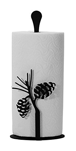(Wrought Iron Counter Top Pinecone Paper Towel)