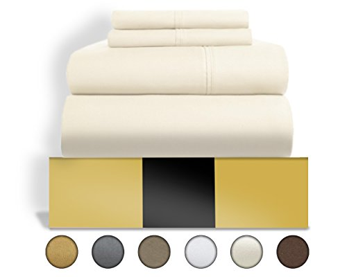 Urban Hut Egyptian Cotton Sheets Set (4 Piece) 800 Thread Count - Bedspread Deep Pocket Premium Quality Bedding Set, Luxury Bed Sheets for Hotel and Home Collection Soft Sateen Weave (Weave Cotton Bedding)