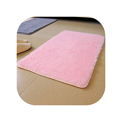 2019 New Candy Color Soft Anti-Skid Carpet Flokati Shaggy Rug Living Bedroom Floor Mat 169WG07 29,Pink,400mm x 600mm