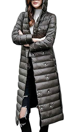 Maxi Coat Women's Lightweight Jackets Down 1 Fashion with Belt Long Hooded TTYLLMAO I8CUAqwA