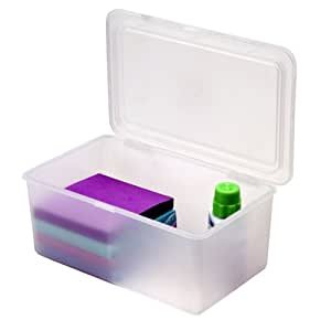 Amazon.com - Plastic Storage Box with Lid - Lidded Home Storage Bins