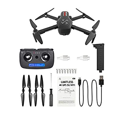 DRONE-CLONE XPERTS Drone X Pro Limitless 4K GPS 5G WiFi Dual Camera Brushless Motor Quadcopter Follow Me Mode 25min Battery 800m Distance