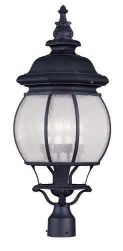 Livex Lighting 7909-04 Frontenac 4 Light Outdoor Post Head, Black by Livex Lighting [並行輸入品] B018A1MEJA