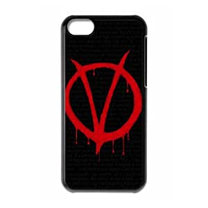 D-PAFD Print V for Vendetta Pattern PC Hard Case for iPhone 5C