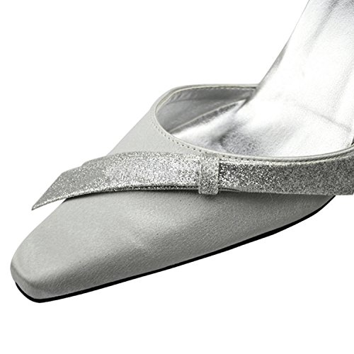 Satin White Wedding Prom Party Fashion Formal Women's Pumps Pointed MZ1246 Evening Toe Bridal Kevin Shoes aqgUXw6