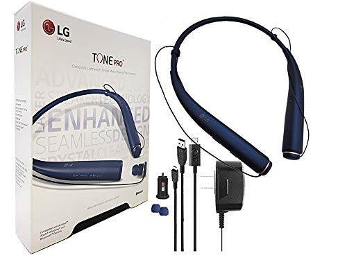LG Tone 780 - Bluetooth Wireless Stereo Headset with Car Charger, Ear Gels with Car/Wall Charger (US Retail Packing) ()