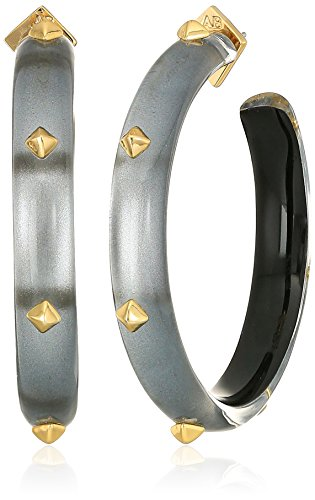 Alexis Bittar Gold Ring (Alexis Bittar Gold Studded Grey Hoop Earrings)