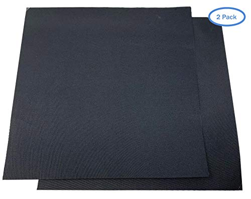 Patch for Car Covers - Polyester Material (Black) - New Updated Super Strong Self Adhesive Backing - 1 ft x 1ft Patch - Use On Boat Covers, RV Covers, Car Covers, Motorcycle Covers and More - 2 Pack (Best Boat Cover Material)