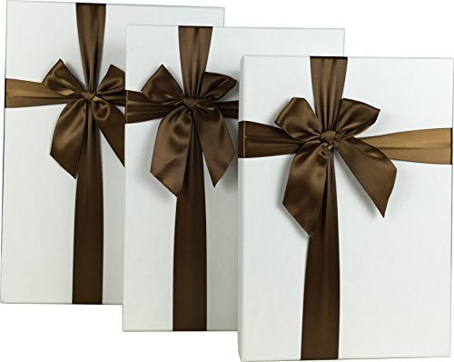 Cypress Lane Rectangular Gift Boxes with Ribbon, a Nested Set of 3 (Rectangular Gift Box)