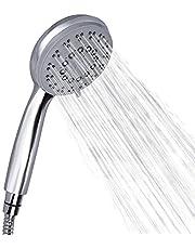 Rovtop Słuchawka prysznicowa, chromowana słuchawka prysznicowa z funkcją zapobiegającą osadzaniu się kamienia, 5 rodzajów strumienia, wysokie ciśnienie, oszczędność wody