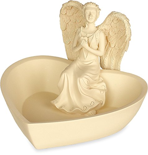 Angelic Pendant Star (Angelstar Small Heart Angel Display Dish, 5-Inch Wide)