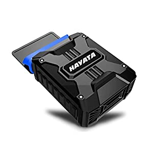 [Best Laptop Cooler] HAYATA LPC-03 Air Extracting Laptop Cooling with Vacuum Fan - USB Powered, Wind Control, Quiet Operation, Ultra-portable Radiators ,CPU Cooler, Fan Heat Sink for Notebook, Laptop