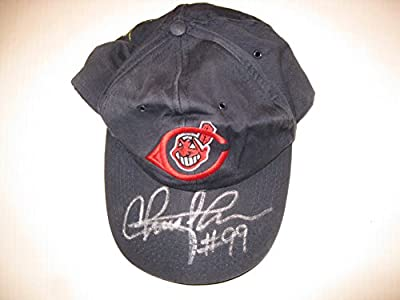 Charlie Sheen autographed/Signed Cleveland Indians Hat COA