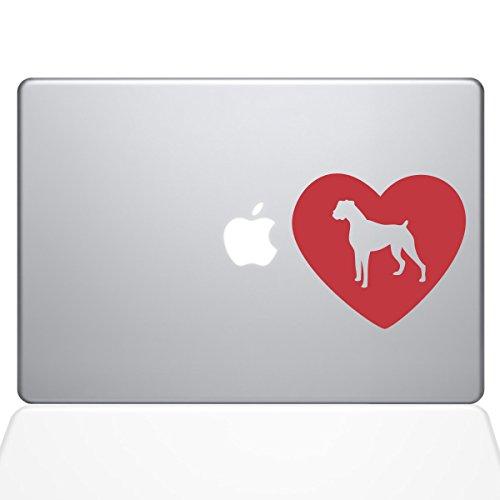"Price comparison product image The Decal Guru Heart Boxer Dog MacBook Decal Vinyl Sticker - 13"" MacBook Air - Red (1326-MAC-13A-DR)"