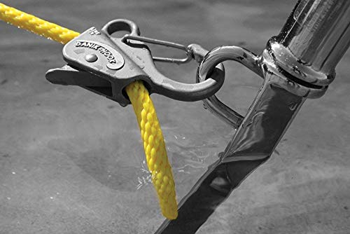 Danik-Hook Stainless Steel- Easy to Use, Knotless Anchor System- Perfect for Boats, Wave Runners, Buoy's, RV's, Campers, and All Personal Water Crafts - Never Tie a Knott Again, 100's of Uses, Reliable and Non Scratching Holding up to 8,000 Pounds with Quick Release - Made From Solid Cast 304 Stainless Steel with a Rock Solid One-year Warranty.
