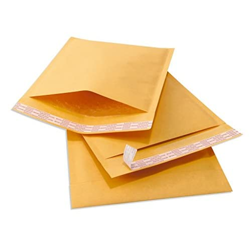"Hot 9.5"" X 13.5"" (9 1/2 x 13 1/2) #4 Kraft Bubble Mailers Padded Shipping Envelopes 25 Pack ZT6Bg9hm"
