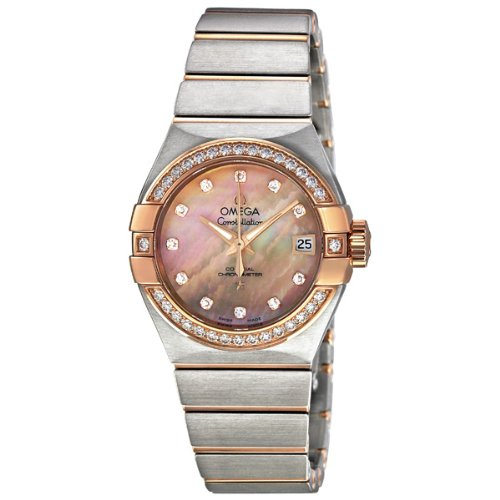 Omega-Constellation-Brown-Mother-of-Pearl-Diamond-Automatic-Ladies-Watch-12325272057001