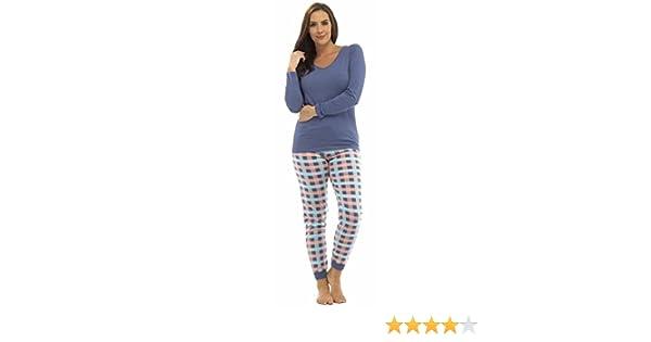 Pijama para mujer Tom Franks de polialgodón, de invierno, manga larga, diferentes diseños: Amazon.es: Ropa y accesorios