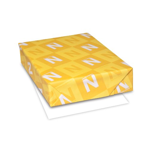 Neenah Classic Crest Writing Paper, Letter 8.5 x 11 Inches, 24 lb., Avon Brilliant White 97 Brightness, 500 Sheets (01338)