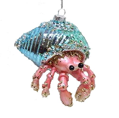 December Diamonds Blown Glass Embellished Hermit Crab Christmas Ornament, Multi, One Size