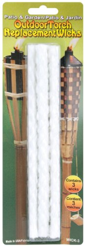 Pepperell Outdoor Torch Replacement Wicks, 8-1/4-Inch, 3 Per Package