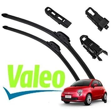 Valeo_group Valeo Juego de 2 escobillas de limpiaparabrisas Especiales para f|at 500 2007 >