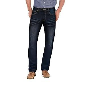 ETHANOL Mens Super Comfy Straight Stretch Knit Denim Five Pocket Hartman Jean