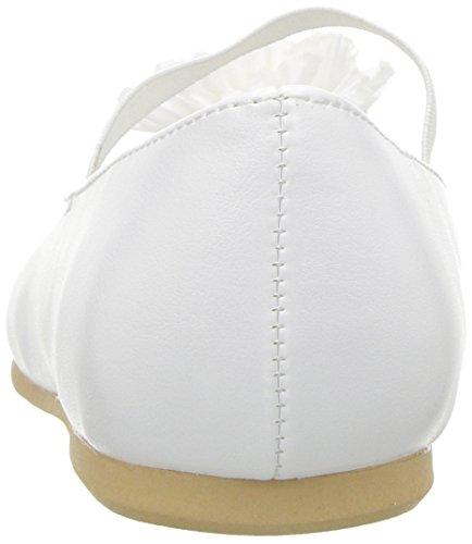 Nina Girls' Jemma-t Ballet Flat, White, 7 M US Toddler - Image 2