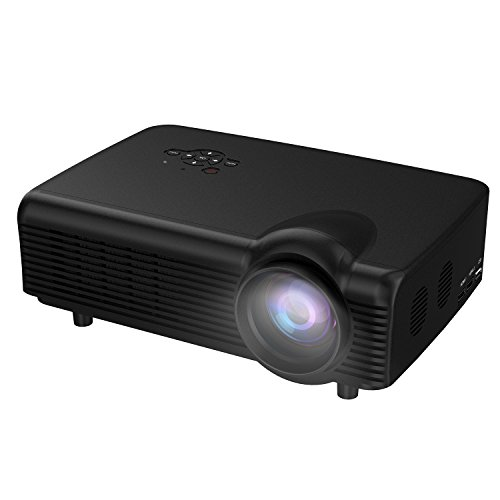 Home Projector,Abdtech Video Projectors HD 1080P With 3000 LED Luminous Efficiency For Home Theater With Optical Keystone USB/AV/HDMI/VGA