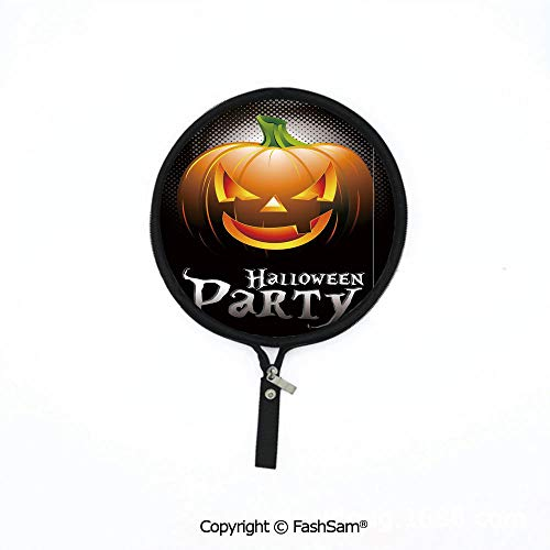 Hot Soft Mouse Bag Multi-Functional Halloween Party Theme Scary Pumpkin on Abstract Modern Backdrop Spider Decorative Waterproof Mouse Pad]()