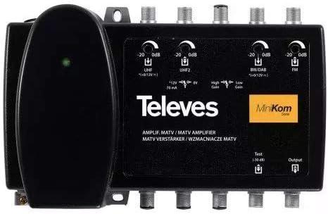 Televes 539201 - Amplificador minikom matv 4e/1s fm-biii/dab ...