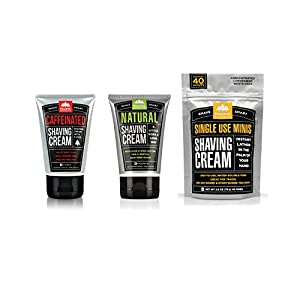 Pacific Shaving Company - Shaving Cream Variety Pack: NATURAL Shaving Cream + CAFFEINATED Shaving Cream + SINGLE-USE Shaving Cream MINIS (40-pack)