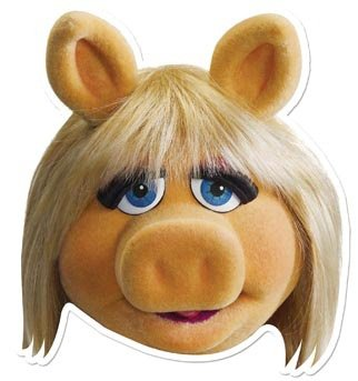 Star Cutouts - Stsm59 - Masque pour Adulte Miss Piggy - The Muppets Show