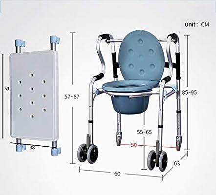 Jmung Silla WC con Inodoro 6 En 1 para Personas Mayores Andador ...