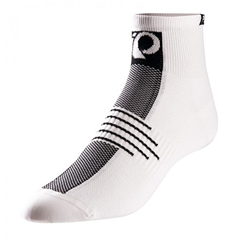 Pearl Izumi White Cycling Socks (Pearl Izumi - Ride Men's Elite Losock Ankle Socks, Core White, X-Large)