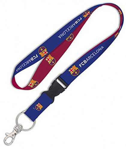 WinCraft FC Barcelona Premium Lanyard Key Chain with Detachable - Barcelona Chain Fc