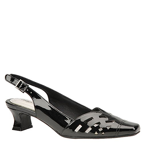 Street Sling (Easy Street Women's Adorable Slingback Pump Black Patent 12 B)