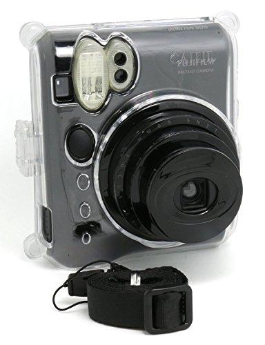 CAIUL FUJIFILM 인스턴트 카메라 체키 instax mini 50S 전용 케이스 카메라 케이스 체키 instax mini 50S 용케이스(투명)