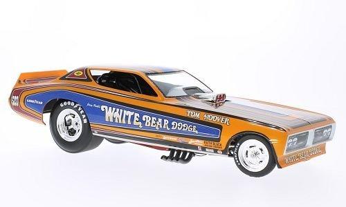 Dodge Charger Funny Car, Weiß Bear, NHRA, 1971, Modellauto, Fertigmodell, ERTL American Muscle 1:18