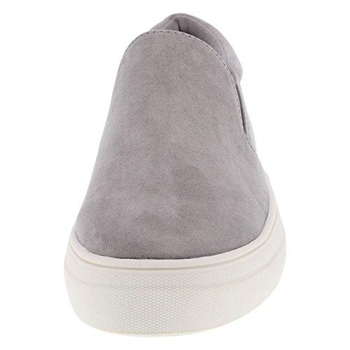 Brash Evonne Slip Evonne Brash Womens Slip On Womens Grey Sneaker Suede wXtHxqUAw
