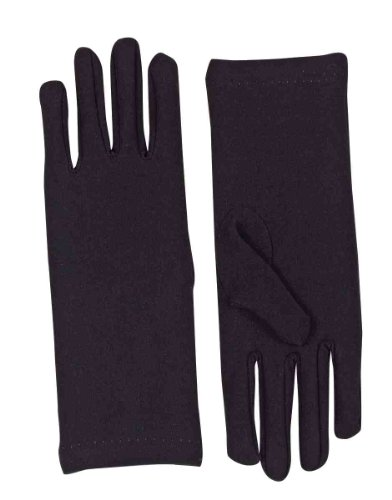 Forum Novelties Women's Novelty Short Dress Gloves, Black, One Size (Black Dress Halloween Costumes)