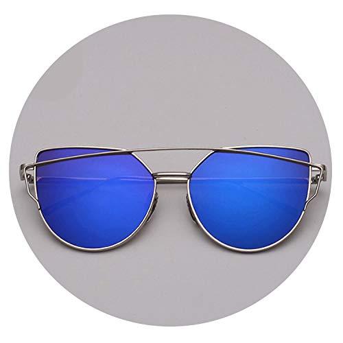Strawberries Cake Mirror Sunglasses Women Vintage Metal Reflective Glasses,silver ()