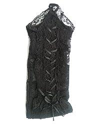 Womens Short Corset Lace Up Corset Fingerless Gothic Steampunk Victorian Gloves