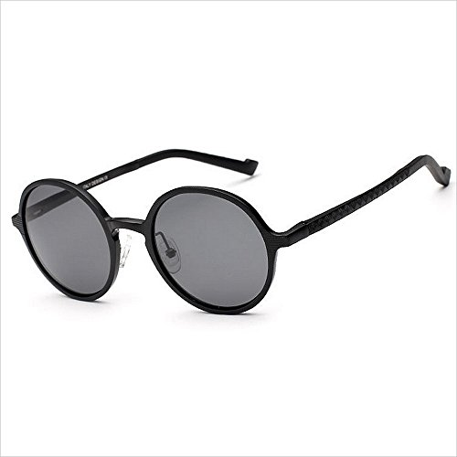JWI Sunglasses Polarized Sunglasses Full Frame Glasses Pilot Mirror Suitable Flying Outdoor Sports Traveling (Color : Black) ()