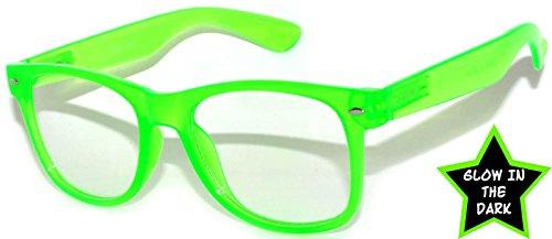 80's Style Vintage Style Glow in the Dark - Glasses The Dark Sun In Glow