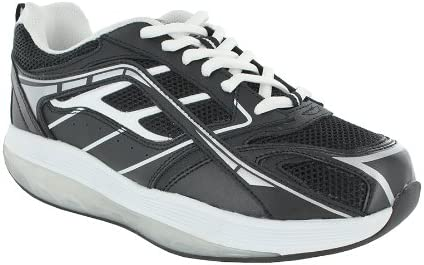 ExerSteps Womens Selection Black Sneakers