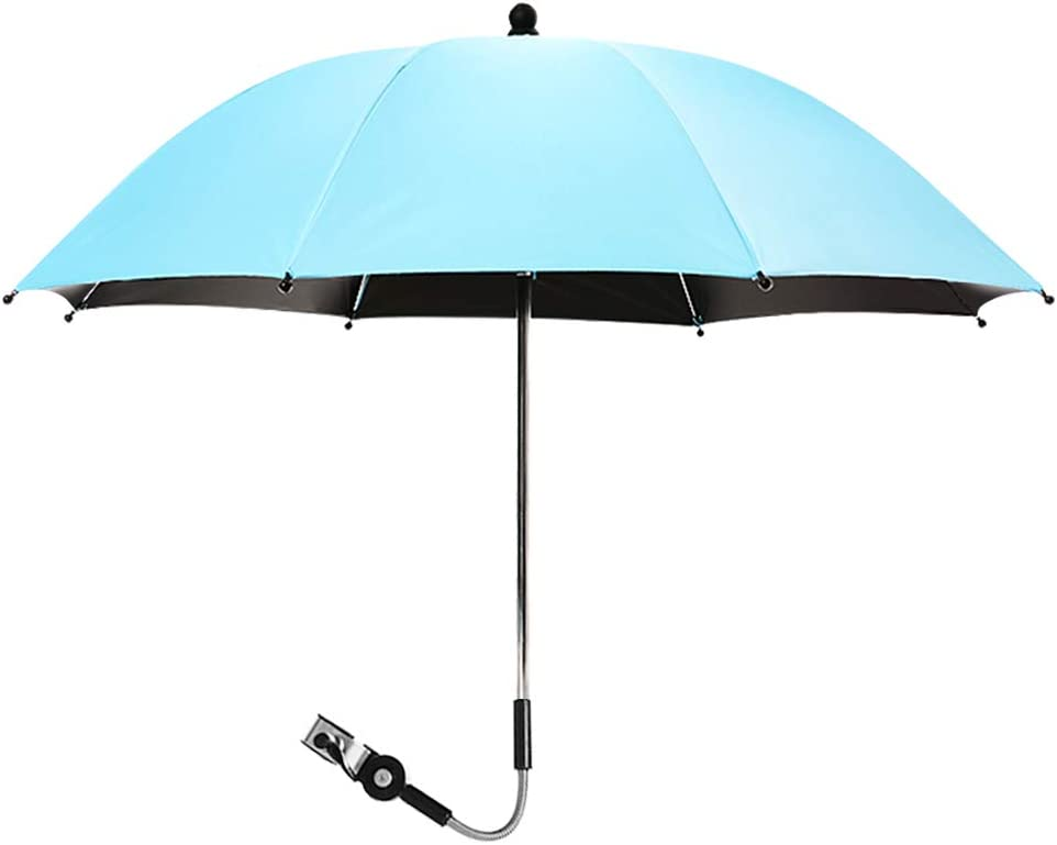 Hoomall Sun Rain Umbrella Parasol Umbrella for Pram Pushchair Canopy Parasol Shade Universal for Infant and Baby with UV Sun Protection