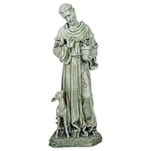 St. Francis Statue - Resin Stoneware