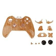 Full Housing Shell Case for Xbox One Wireless Controller-Light Wood Grain