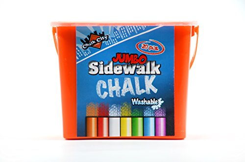 Chalk-City-20-Piece-Jumbo-Washable-Sidewalk-Chalk